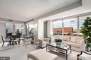 Living room area - 1155 23RD ST NW #PH2C, WASHINGTON