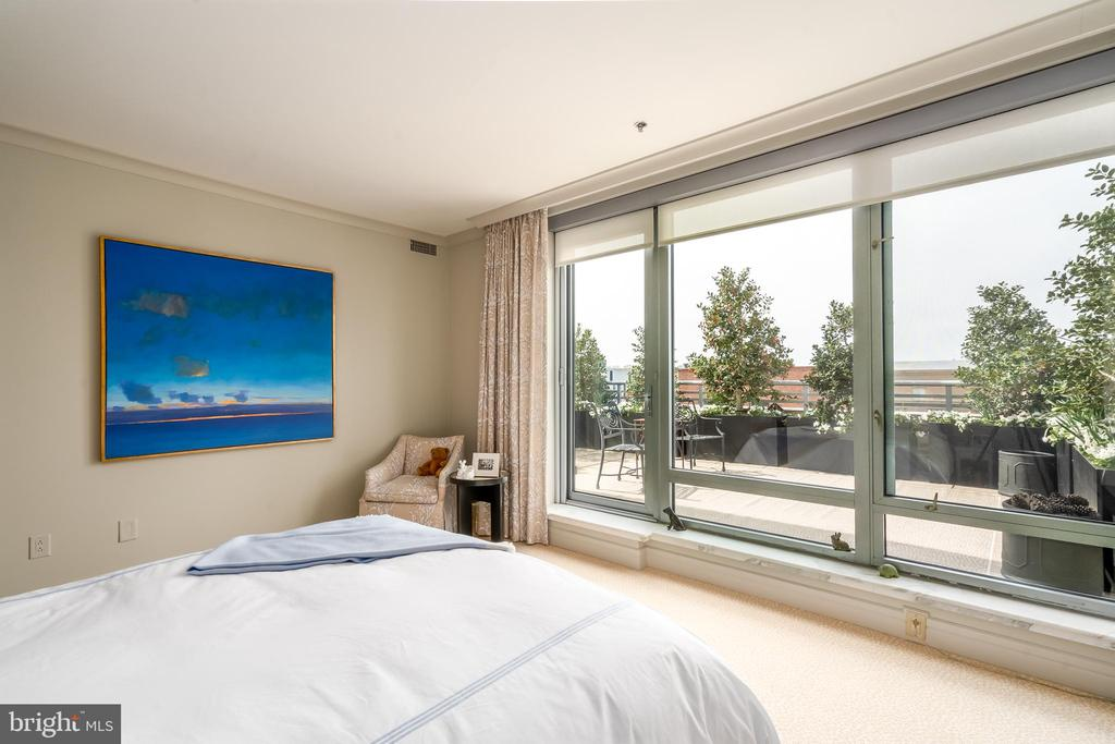 Master Bedroom with large terrace - 1155 23RD ST NW #PH2C, WASHINGTON