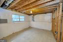 unfinished basement - 25 WAGONROAD LN, FREDERICKSBURG