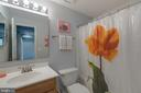 Lower level full bathroom - 11205 PAVILION CLUB CT, RESTON