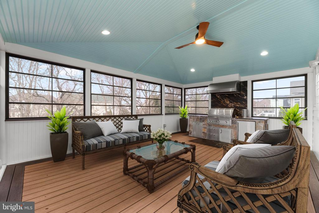 Gorgeous Screened Porch (staged) - 21826 ENGLESIDE PL, BROADLANDS
