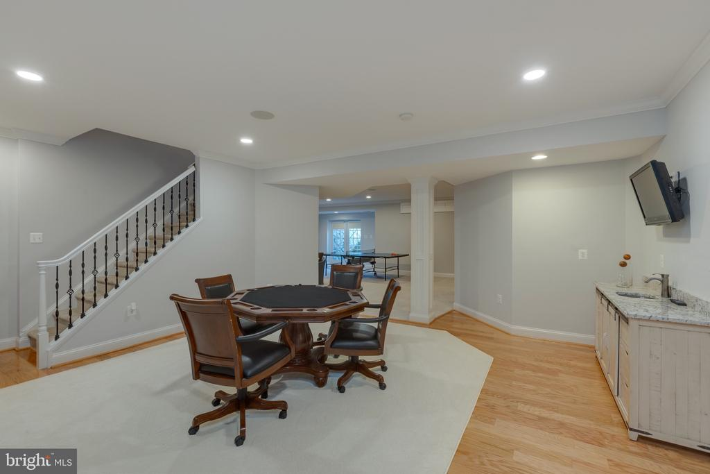Fully Finished Lower Level Entertaining Game Room - 16357 LIMESTONE CT, LEESBURG