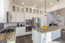 Gourmet kitchen - 17013 SILVER ARROW DR, DUMFRIES