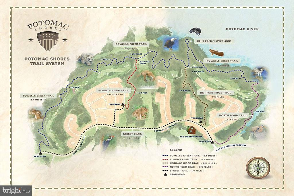 Trail map - 17013 SILVER ARROW DR, DUMFRIES
