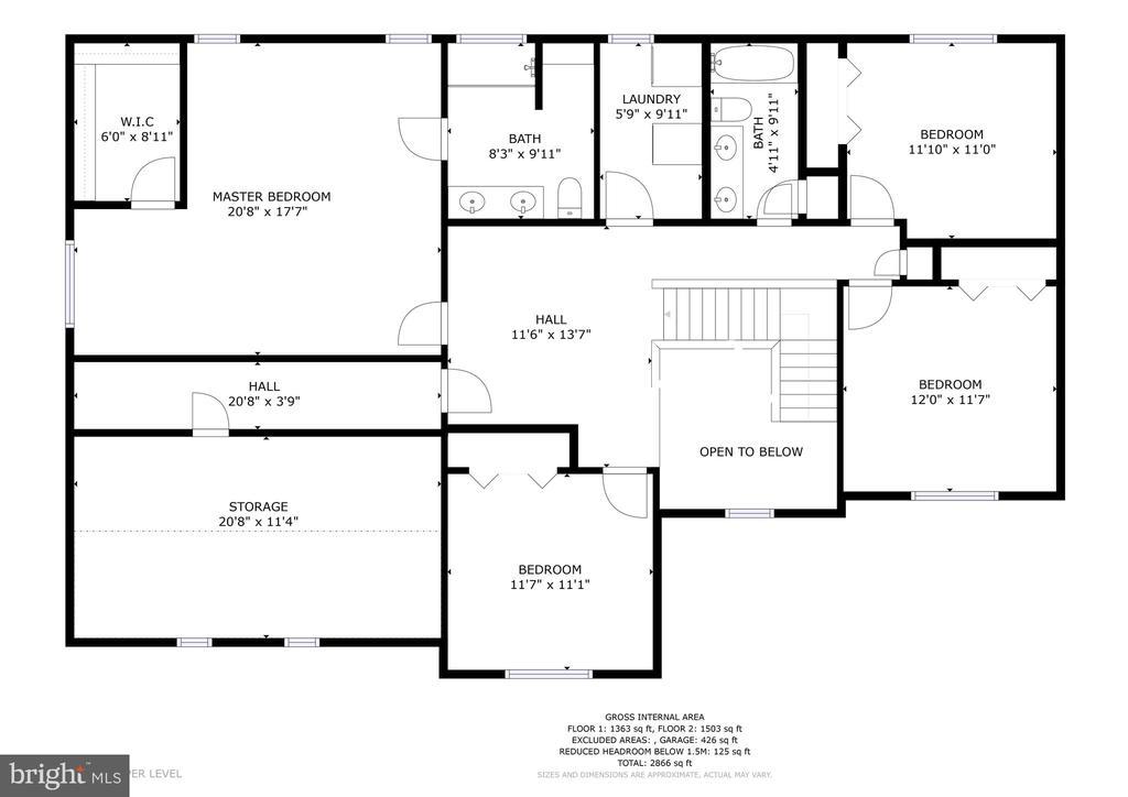 Upstairs - 1121 WHITE OAK RD, FREDERICKSBURG