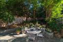 Deep, landscaped yard with waterfall. - 1423 36TH ST NW, WASHINGTON