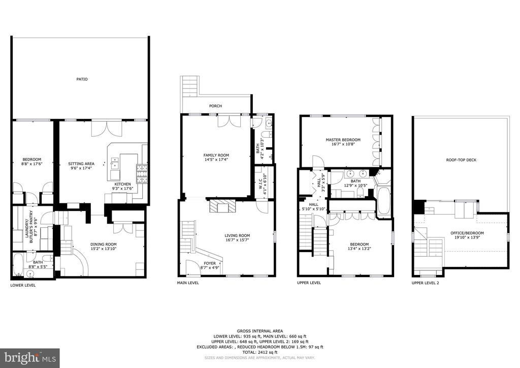 Floor plan. - 1423 36TH ST NW, WASHINGTON