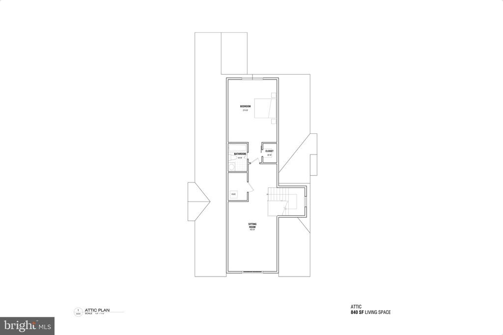 Attic Floorplan - 3713 LIVINGSTON ST NW, WASHINGTON