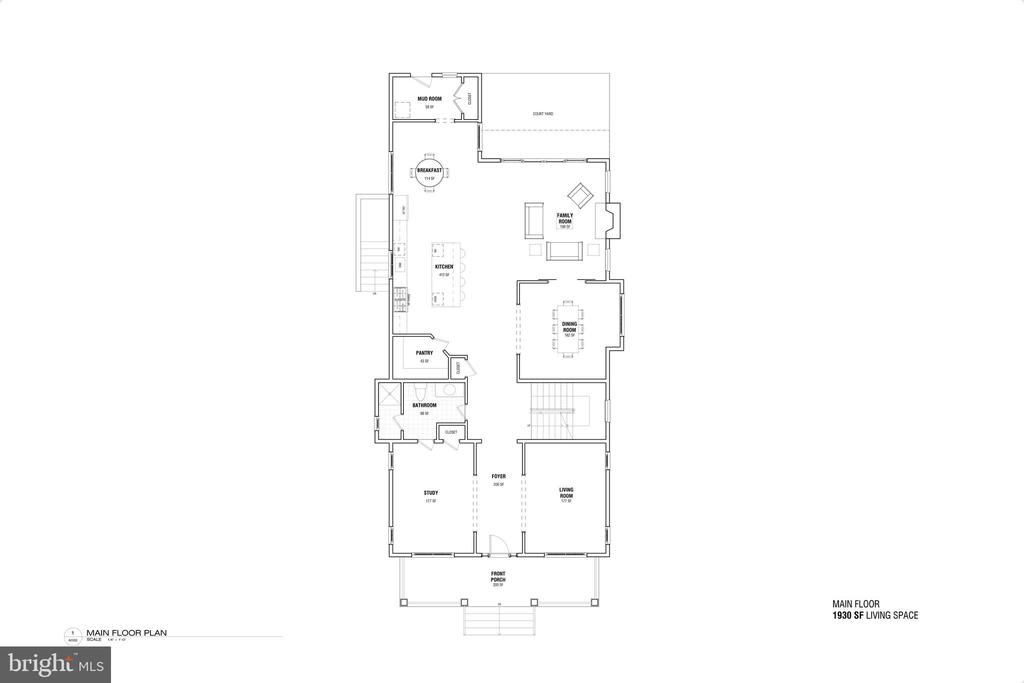 Main Floorplan - 3713 LIVINGSTON ST NW, WASHINGTON