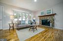 Living Room with Bay Window & Fireplace - 2129 FLAG MARSH RD, MOUNT AIRY