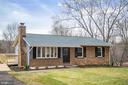 Front of home with new roof, landscaping & sod - 2129 FLAG MARSH RD, MOUNT AIRY