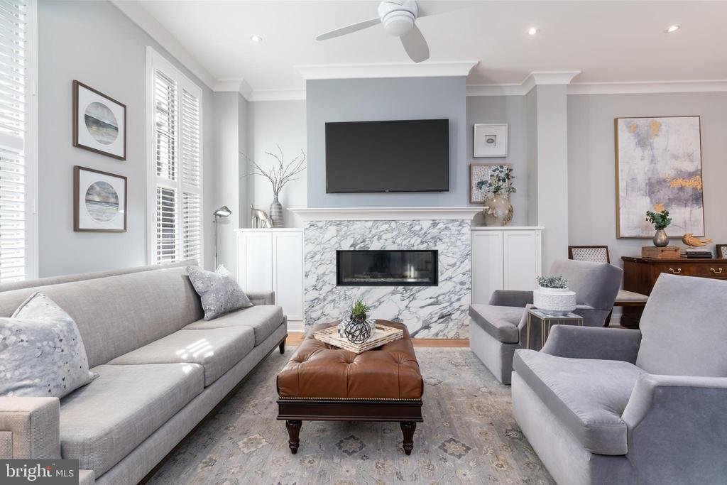 Living Room with fireplace - 505 ORONOCO ST, ALEXANDRIA