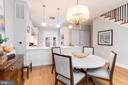 Dining is open to kitchen - 505 ORONOCO ST, ALEXANDRIA