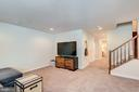 Spacious & inviting living space in the rec room - 1148 HOLDEN RD, FREDERICK