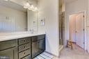Master bath with dual vanity & luxury shower - 1148 HOLDEN RD, FREDERICK