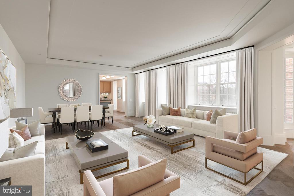 Spacious Living Area for Grand Entertaining - 2660 CONNECTICUT AVE NW #5E, WASHINGTON