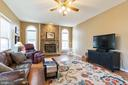 Cozy Stone Fireplace in family room - 260 SPOTTED TAVERN RD, FREDERICKSBURG