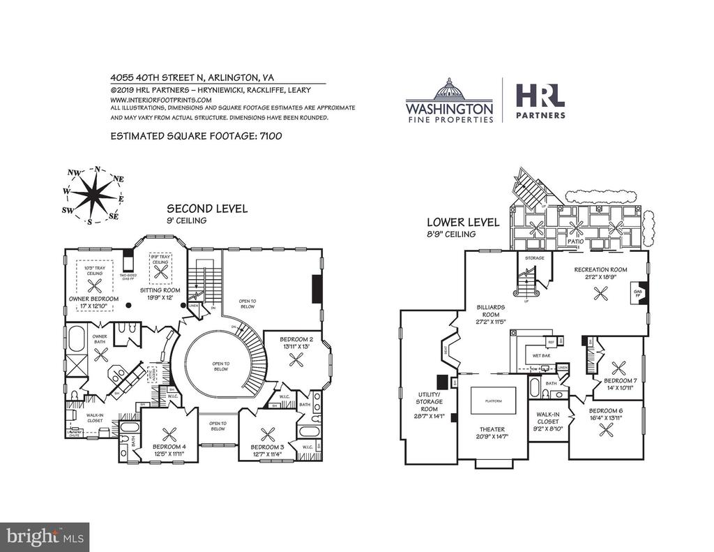 Upper and Lower Level Floor Plans - 4055 40TH ST N, ARLINGTON