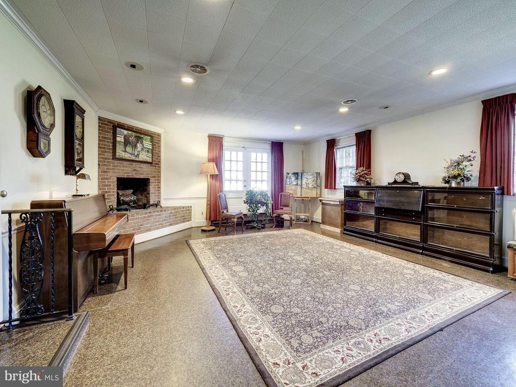 Recreation Room with Fireplace - 7800 PERSIMMON TREE LN, BETHESDA