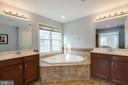 Large soaking tub in Master Bathroom - 41528 WARE CT, ALDIE