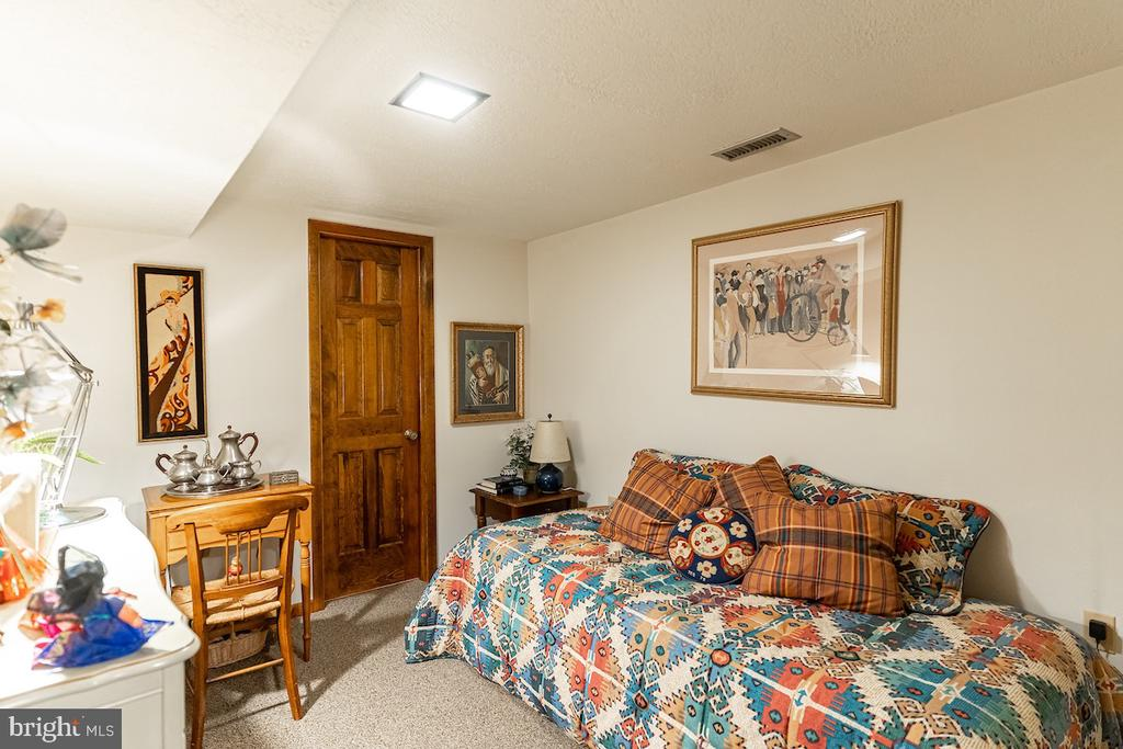 Basement bedroom with a cedar closet and full bath - 11905 VIEWCREST TER, SILVER SPRING