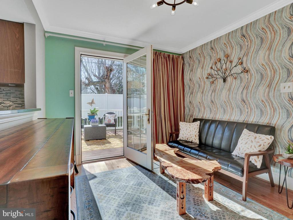 Relax and gaze out the glass doors to deck - 1012 MERCER PL, FREDERICK