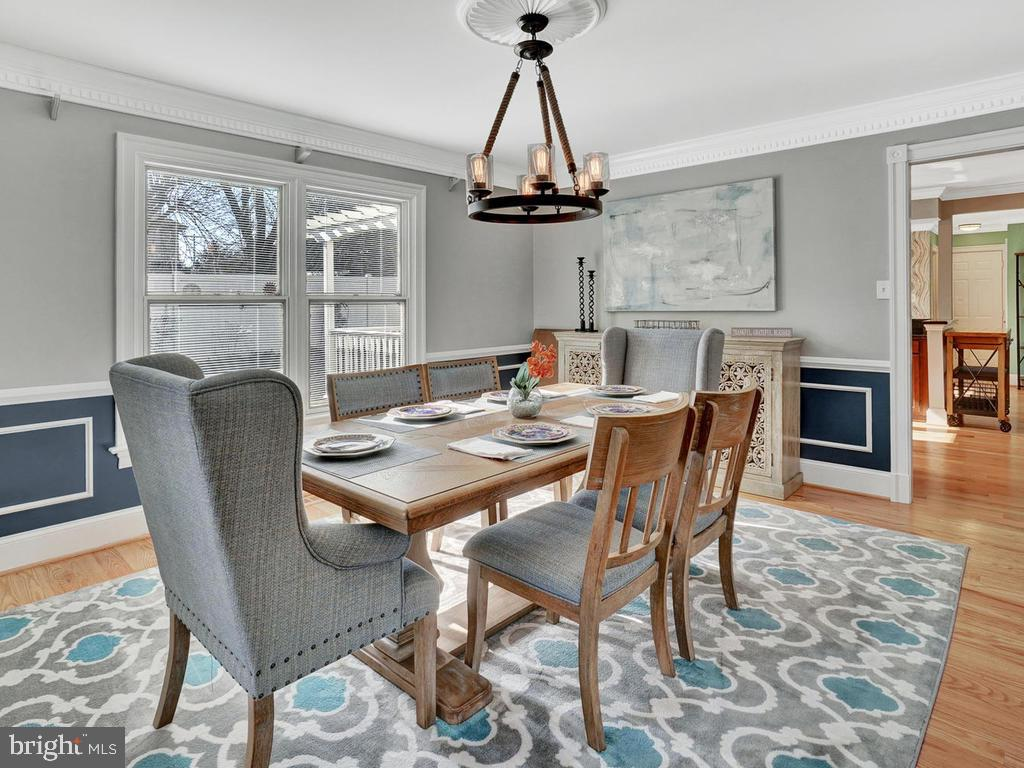 Follow the flow from dining room to kitchen - 1012 MERCER PL, FREDERICK