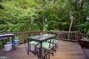 Beautiful deck overlooking common area and trees - 34 WADDINGTON CT, ROCKVILLE