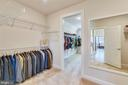 More closet space in the master bedroom - 41178 CHATHAM GREEN CIR, ALDIE
