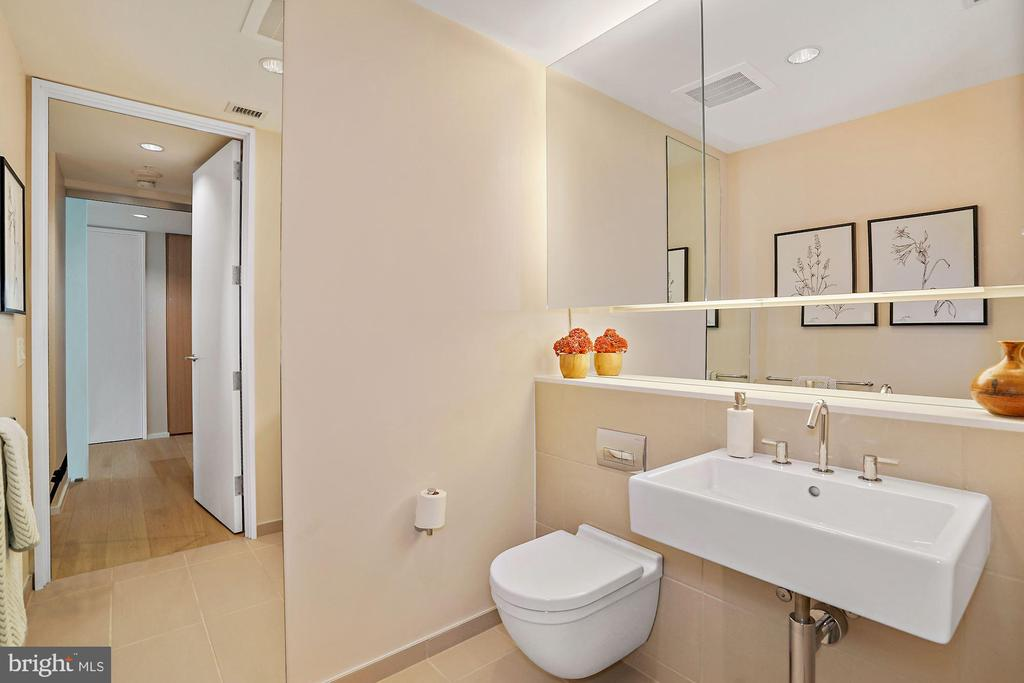 Second Bathroom - separated powder room for guests - 920 I ST NW #811, WASHINGTON