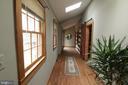 main level hall way, new barn door - 35820 CHARLES TOWN PIKE, HILLSBORO