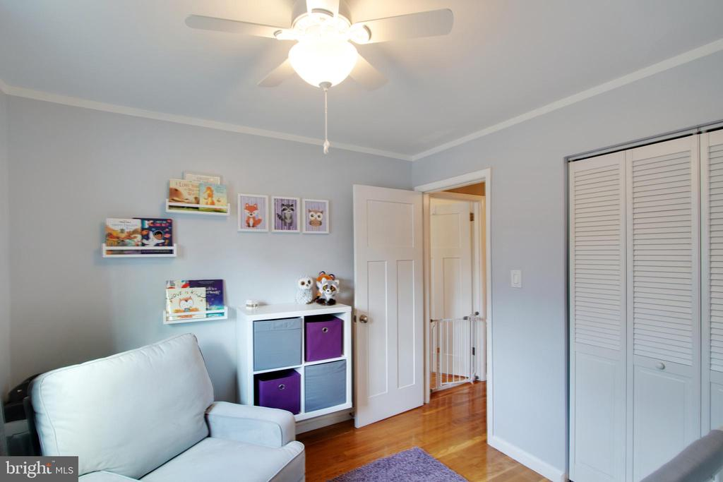 Bedrooms are spacious & this one has a ceiling fan - 10822 CHARLES DR, FAIRFAX