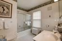 Upper level Hall Bath with window - 17 MAGNOLIA PKWY, CHEVY CHASE