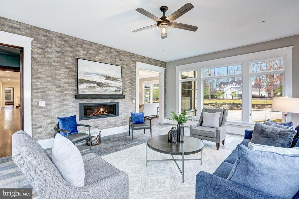Sitting Room with Modern Fireplace - 12025 EVENING RIDE DR, POTOMAC