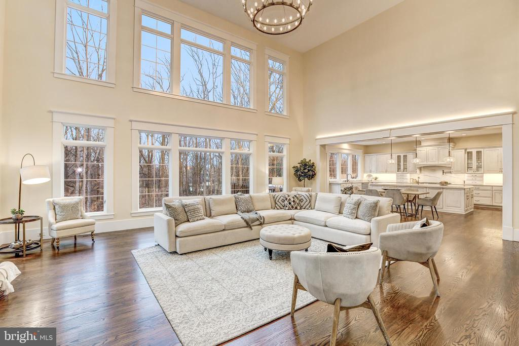 Two Story Family Room - 12025 EVENING RIDE DR, POTOMAC
