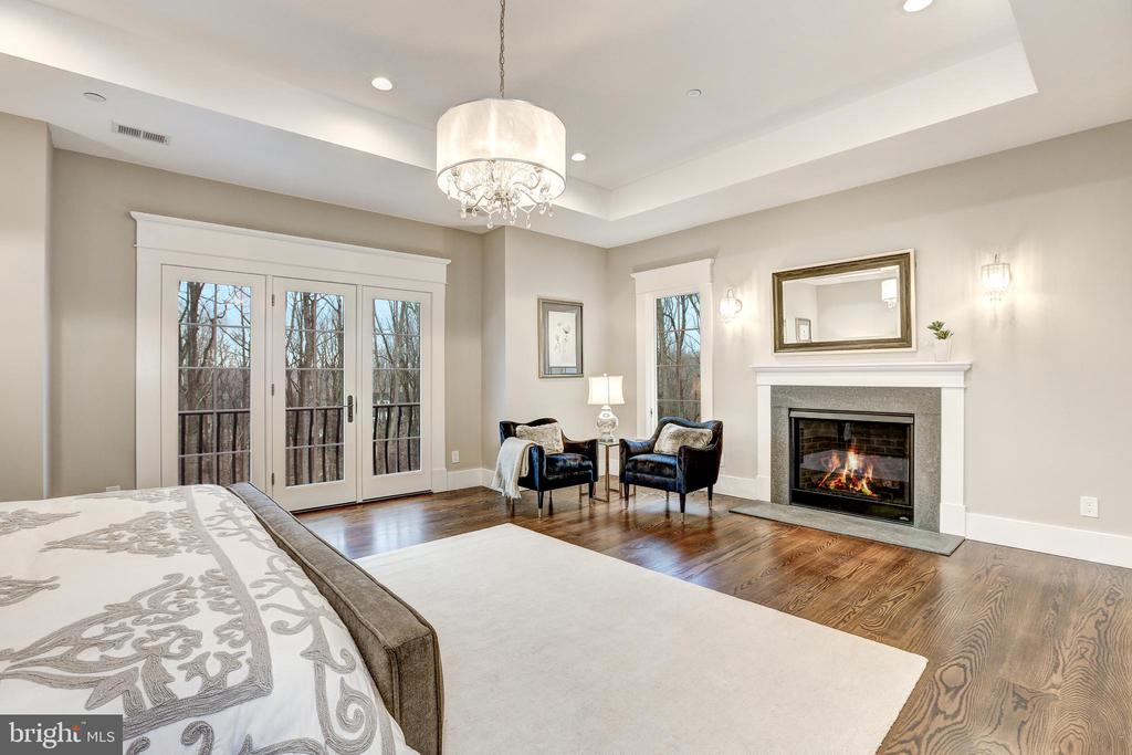 Master Bedroom with Fireplace - 12025 EVENING RIDE DR, POTOMAC