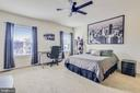 Master Bedroom with Custom Ceiling Fan/Light - 20495 MILBRIDGE TER, ASHBURN