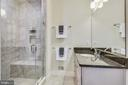 Master Bath with Upgrade Glass Shower & Tile Seat - 20495 MILBRIDGE TER, ASHBURN