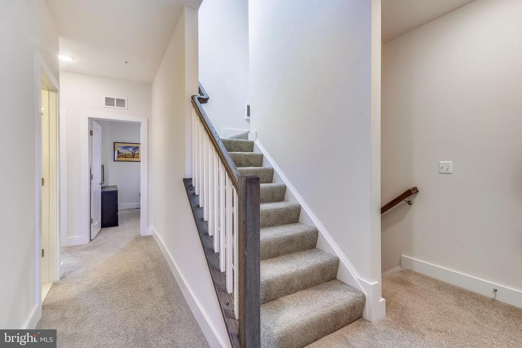 Upper Hallway with Stairs to Rooftop Terrace - 20495 MILBRIDGE TER, ASHBURN