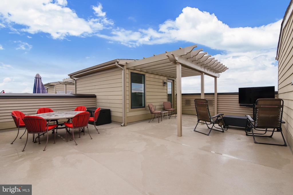 Private Rooftop Terrace and Decorative Sun Trellis - 20495 MILBRIDGE TER, ASHBURN