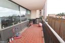Balcony with great views! - 3709 S GEORGE MASON DR #210, FALLS CHURCH