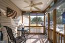 Screened In Porch with Fan - 167 BROOKE RD, FREDERICKSBURG