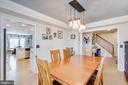 Formal Dining Room - 167 BROOKE RD, FREDERICKSBURG