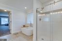 Tiled Shower with Glass Door - 167 BROOKE RD, FREDERICKSBURG