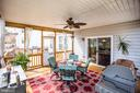 This custom built screen porch is perfect - 75 COLEMANS MILL DR, FREDERICKSBURG