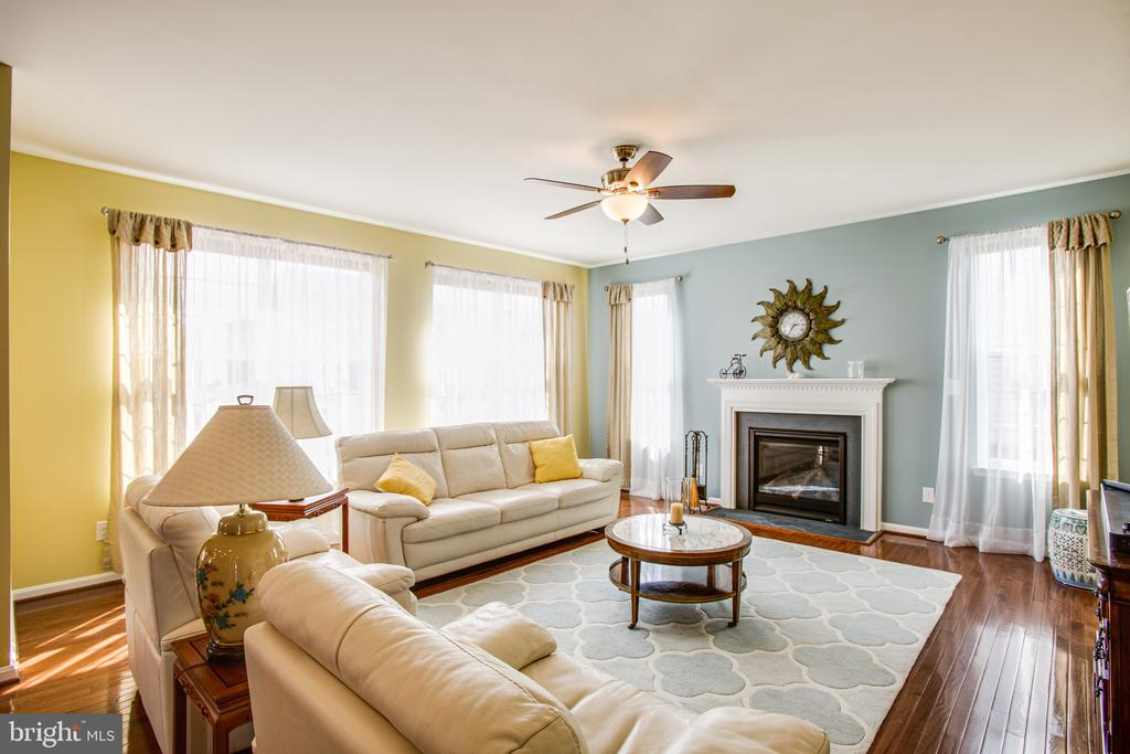 Family room features gas fireplace & sun galore - 75 COLEMANS MILL DR, FREDERICKSBURG