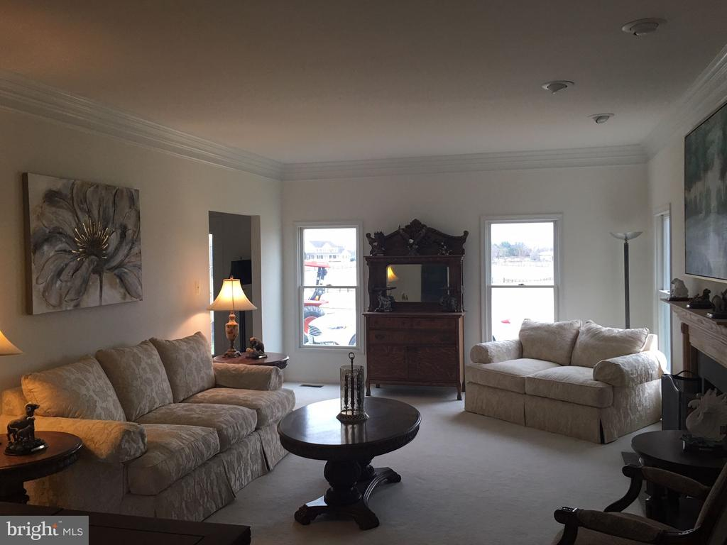 Formal living room with fireplace - 12090 MOUNTAIN WATCH CT, LOVETTSVILLE