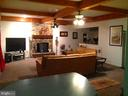 Family Room with bar area & stone fireplace - 12090 MOUNTAIN WATCH CT, LOVETTSVILLE