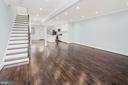 An inviting open floor plan - 2509 N CAPITOL ST NE, WASHINGTON