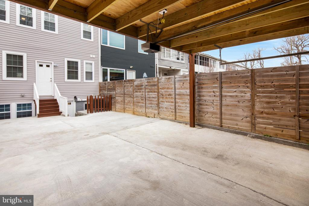 Large rear patio and carport  - easy for 2 cars! - 2509 N CAPITOL ST NE, WASHINGTON